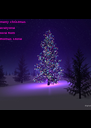 merry christmas  everyone love from  thomas stone - Personalised Poster A4 size