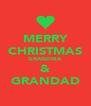 MERRY CHRISTMAS GRANDMA & GRANDAD - Personalised Poster A4 size