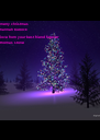merry christmas  hannah bullock  love from your best friend forever thomas stone - Personalised Poster A4 size