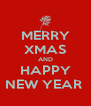 MERRY XMAS AND HAPPY NEW YEAR  - Personalised Poster A4 size