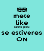 mete like neste post se estiveres ON - Personalised Poster A4 size