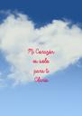 Mi Corazón es solo  para ti Claris - Personalised Poster A4 size