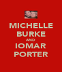 MICHELLE BURKE AND IOMAR PORTER - Personalised Poster A4 size