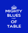 MIGHTY BLUES TOP  OF TABLE - Personalised Poster A4 size