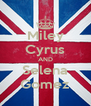 Miley Cyrus AND Selena Gomez - Personalised Poster A4 size