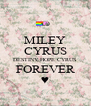 MILEY CYRUS DESTINY HOPE CYRUS FOREVER ♥ - Personalised Poster A4 size