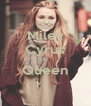 Miley Cyrus Is Queen  - Personalised Poster A4 size