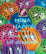 MINA HAPPY BIRTHDAY love your bff elizabeth - Personalised Poster A4 size