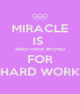 MIRACLE IS  ANOTHER WORD FOR HARD WORK - Personalised Poster A4 size