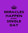 MIRACLES HAPPEN EVERY SINGLE DAY - Personalised Poster A4 size