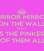 MIRROR MIRROR ON THE WALL SALLY  IS THE PINKEST  OF THEM ALL - Personalised Poster A4 size