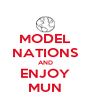 MODEL NATIONS AND ENJOY MUN - Personalised Poster A4 size