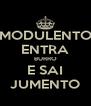 MODULENTO ENTRA BURRO E SAI JUMENTO - Personalised Poster A4 size
