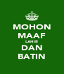 MOHON MAAF LAHIR DAN BATIN - Personalised Poster A4 size