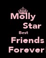 Molly       Star  Best     Friends       Forever!! - Personalised Poster A4 size