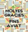 MOLTES GRÀCIES I FINS AVIAT - Personalised Poster A4 size