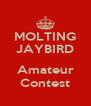 MOLTING JAYBIRD  Amateur Contest - Personalised Poster A4 size