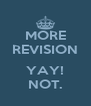 MORE REVISION  YAY! NOT. - Personalised Poster A4 size