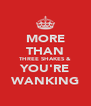 MORE THAN THREE SHAKES & YOU'RE WANKING - Personalised Poster A4 size