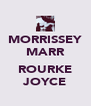 MORRISSEY MARR  ROURKE JOYCE - Personalised Poster A4 size