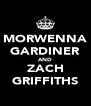 MORWENNA GARDINER AND ZACH GRIFFITHS - Personalised Poster A4 size