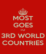 MOST GOES TO 3RD WORLD COUNTRIES - Personalised Poster A4 size