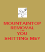 MOUNTAINTOP REMOVAL ARE YOU SHITTING ME? - Personalised Poster A4 size