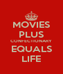 MOVIES PLUS CONFECTIONARY EQUALS LIFE - Personalised Poster A4 size