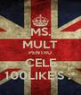 MS. MULT PENTRU CELE 100LIKE'S :* - Personalised Poster A4 size