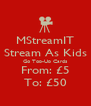 MStreamIT Stream As Kids Go Top-Up Cards From: £5 To: £50 - Personalised Poster A4 size