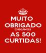 MUITO  OBRIGADO CHEGAMOS AS 500 CURTIDAS! - Personalised Poster A4 size
