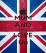 MUM AND DAD LOVE Uu - Personalised Poster A4 size