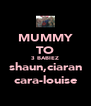 MUMMY TO 3 BABIEZ shaun,ciaran cara-louise - Personalised Poster A4 size