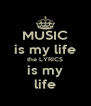 MUSIC is my life the LYRICS is my life - Personalised Poster A4 size