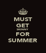 MUST GET SKINNY FOR SUMMER - Personalised Poster A4 size