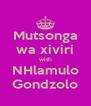 Mutsonga wa xiviri with NHlamulo Gondzolo - Personalised Poster A4 size