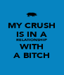 MY CRUSH IS IN A RELATIONSHIP WITH A BITCH - Personalised Poster A4 size