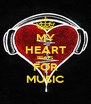 MY HEART BEATS FOR MUSIC - Personalised Poster A4 size