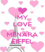 MY LOVE IN MENARA EIFFEL - Personalised Poster A4 size
