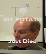 MY POTATO    Just Died - Personalised Poster A4 size