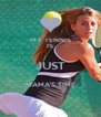 MY TENNIS IS JUST MAMA'S TIME  - Personalised Poster A4 size