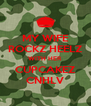 MY WIFE ROCKZ HEELZ WITH HER CUPCAKEZ CNHLV - Personalised Poster A4 size