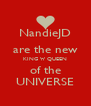 NandieJD are the new KING 'n' QUEEN of the UNIVERSE - Personalised Poster A4 size