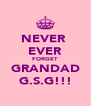NEVER  EVER FORGET GRANDAD G.S.G!!! - Personalised Poster A4 size