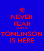 NEVER FEAR SUPER TOMLINSON IS HERE - Personalised Poster A4 size