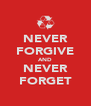 NEVER FORGIVE AND NEVER FORGET - Personalised Poster A4 size