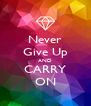Never Give Up AND CARRY ON - Personalised Poster A4 size