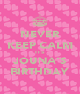 NEVER KEEP CALM IT'S JOUNA'S BIRTHDAY - Personalised Poster A4 size