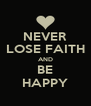 NEVER LOSE FAITH AND BE HAPPY - Personalised Poster A4 size