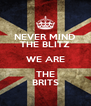 NEVER MIND THE BLITZ WE ARE THE BRITS - Personalised Poster A4 size